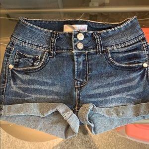 Stretchy Denim Shorts